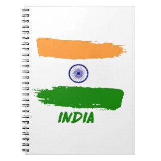Indian flag designs notebook