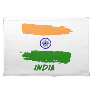Indian flag designs placemat