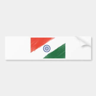 Indian Flag Flag India National Country Nation Bumper Sticker