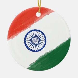 Indian Flag Flag India National Country Nation Ceramic Ornament