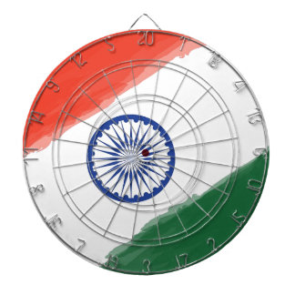 Indian Flag Flag India National Country Nation Dartboard