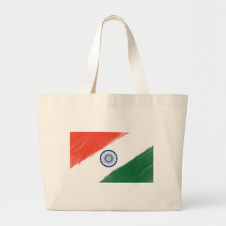 Indian Flag Flag India National Country Nation Large Tote Bag