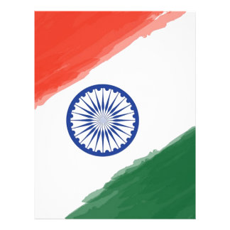 Indian Flag Flag India National Country Nation Letterhead