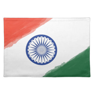 Indian Flag Flag India National Country Nation Placemat