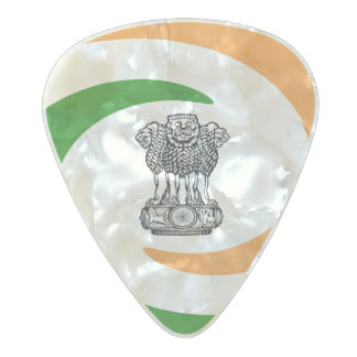 Indian flag pearl celluloid guitar pick