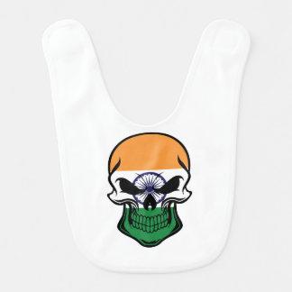 Indian Flag Skull Bib