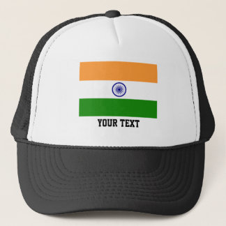 Indian flag trucker hat
