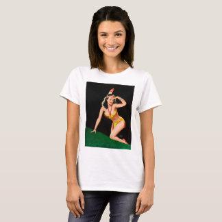 Indian girl retro pinup illustration T-Shirt
