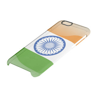 Indian glossy flag clear iPhone 6/6S case