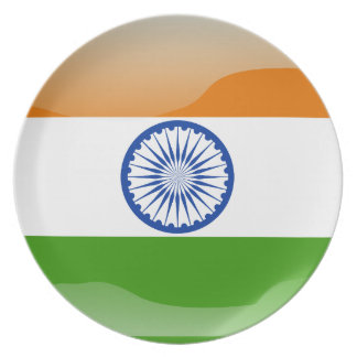 Indian glossy flag plate