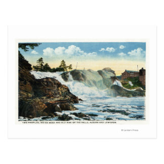 Indian Head and Old Man of the Falls View Postcard