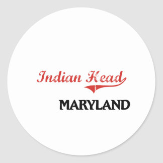 Indian Head Maryland City Classic Sticker