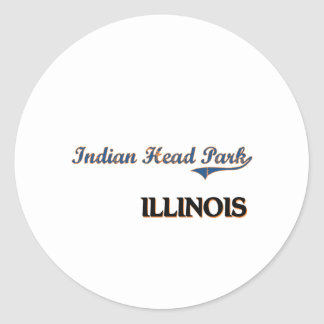 Indian Head Park Illinois City Classic Round Sticker