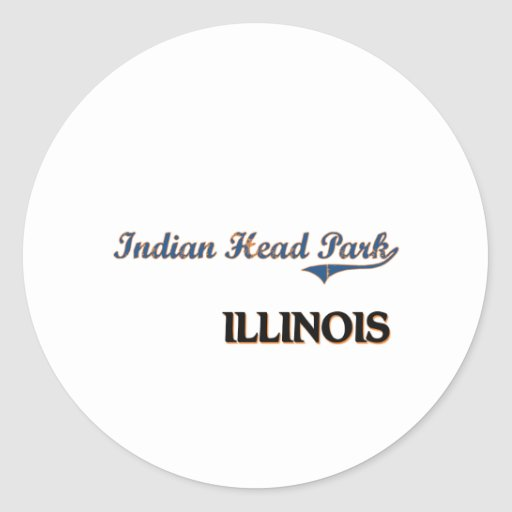 Indian Head Park Illinois City Classic Round Sticker