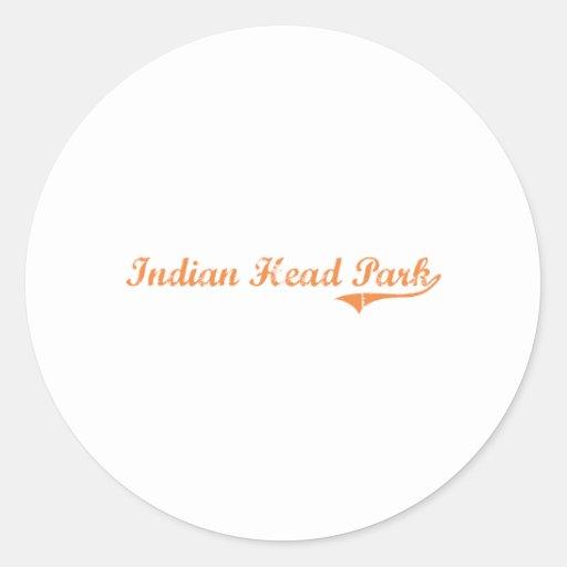 Indian Head Park Illinois Classic Design Round Stickers