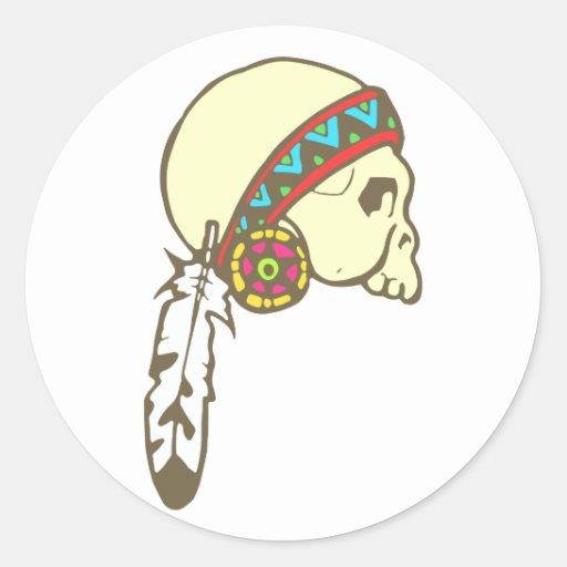 Indian head skull native American skull Sticker