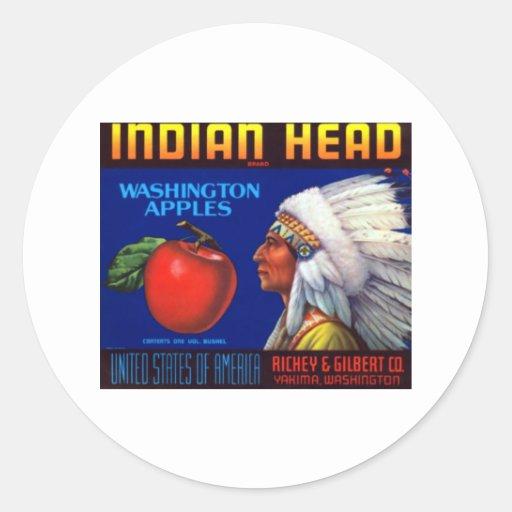 Indian Head Washington Apples Sticker