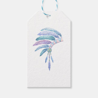 Indian Headdress in Watercolour Gift Tags