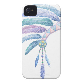 Indian Headdress in Watercolour iPhone 4 Case-Mate Cases