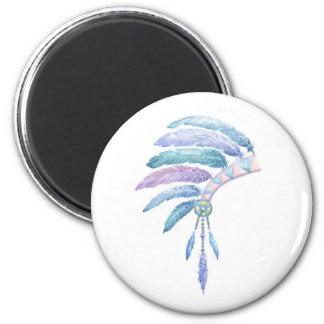Indian Headdress in Watercolour Magnet
