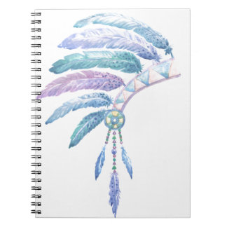 Indian Headdress in Watercolour Notebook
