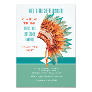 Indian Headdress Invitation