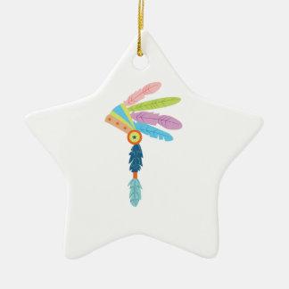 Indian Headress Ceramic Ornament