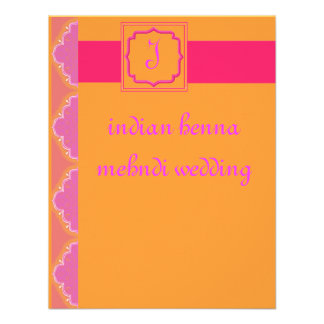 indian henna mehndi wedding custom announcement