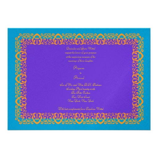 Indian Hindu Muslim Weddubg Invitation Mehndi