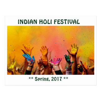 INDIAN HOLI FESTIVAL POSTCARD