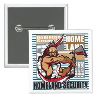 Indian Homeland Security 2 Inch Square Button