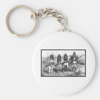 Indian Homeland Security Basic Round Button Keychain