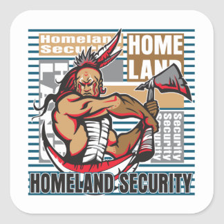Indian Homeland Security Square Sticker