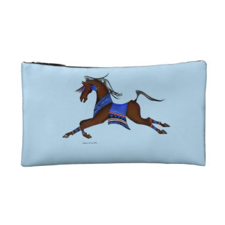 Indian horse makeup bag