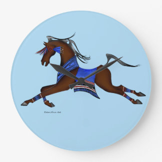Indian horse wall clock