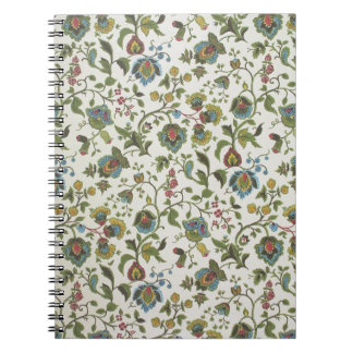 Indian-inspired, floral design wallpaper, 1965-75 notebooks