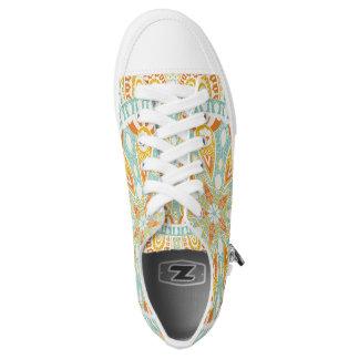Indian Kaleidoscope Art Low-Top Sneakers