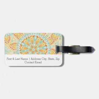 Indian Kaleidoscope Art Luggage Tag