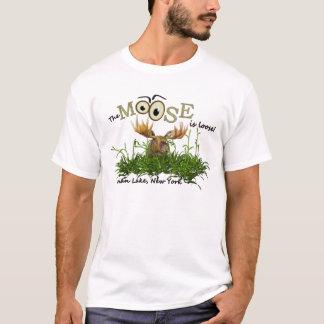 "Indian Lake, NY, ""The Moose is Loose"" Tshirt"