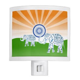 """Indian """"landscape"""" flag nite lite"""