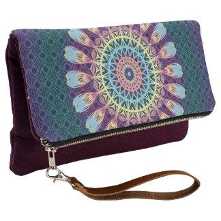 Indian Mandala Multicolor Hippy Boho Style Clutch