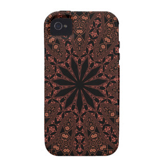 indian mandala pattern Case-Mate iPhone 4 cover