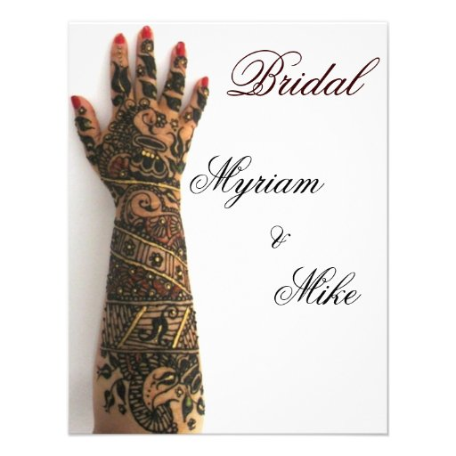 indian mehndi bridal custom invitation