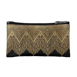 Indian Motif Pattern Cosmetic Bag