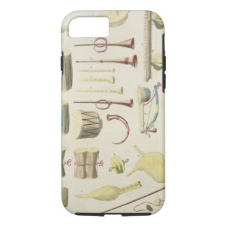 Indian Musical Instruments, plate 23 from 'Orienta iPhone 7 Case