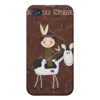 Indian Name - Distress Leather Look Case iPhone 4 iPhone 4 Covers