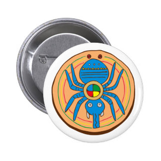 Indian native American spider SPI that 2 Inch Round Button
