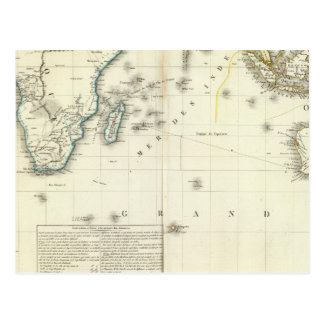 Indian Ocean Atlas Map Postcard
