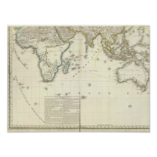 Indian Ocean Atlas Map Poster
