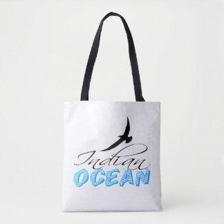 Indian Ocean White Customizable Tote Bag